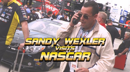 Adam Sandler as Sandy Wexler Meets Nascar