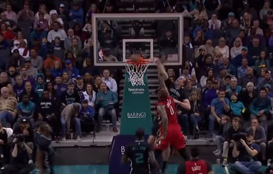 Watch DeMarcus Cousins Get Posterized By Cody Zeller