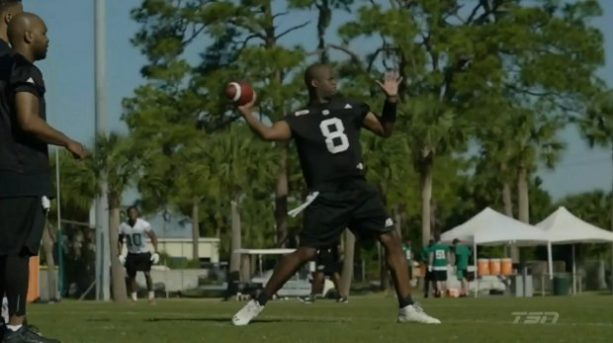 Vince Young At CFL Camp In Florida