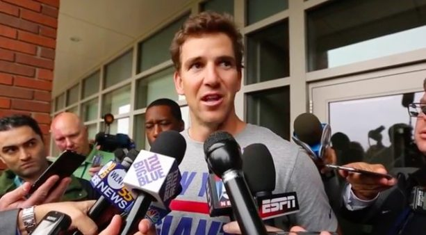 Eli Manning Denies Any Wrongdoing In Memorabilia Scandal