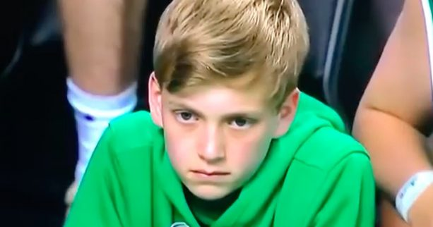 Young Celtics Fan Drops f-bomb on Live TV