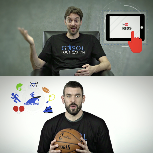 Marc and Pau Gasol Partners with YouTube Kids to Fight Against Childhood Obesity