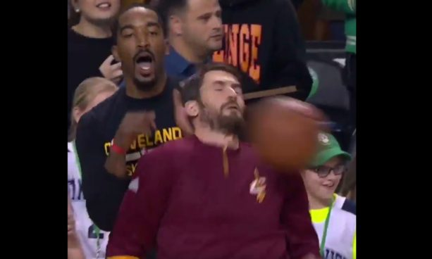 Kevin Love Took one to the Face and the Internet Reacted Accordingly