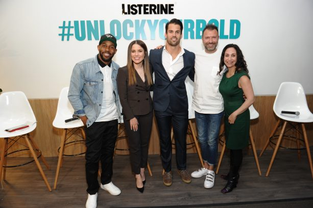 Eric Decker at Listerine Unlock Your Bold Launch Event