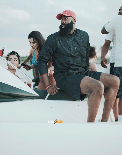 b66a88c005de James Harden was on a boat yesterday in Miami with 13 strippers and rapper  Meek Mill