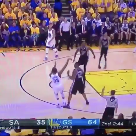 Did LaMarcus Aldridge Intentionally Step Under Kevin Durant in Game 2?