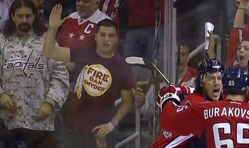 """Caps Fan Goes Viral For His """"Fire Dan Snyder"""" T-Shirt"""