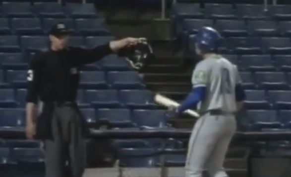 Minor League Baseball Player Strikes Out On A Pitch That Rolled To The Plate