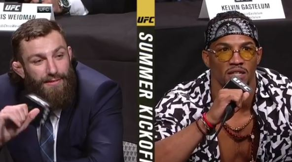 UFC Lightweights Kevin Lee and Michael Chiesa Have To Be Separated at UFC Summer Kickoff