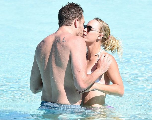 Caroline Wozniacki Rocks Mismatched Bikini for Make out Session