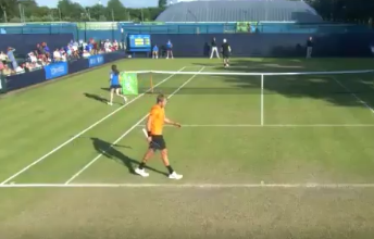 """Tennis Match Ends When Player Calls Himself A """"Stupid Person"""""""