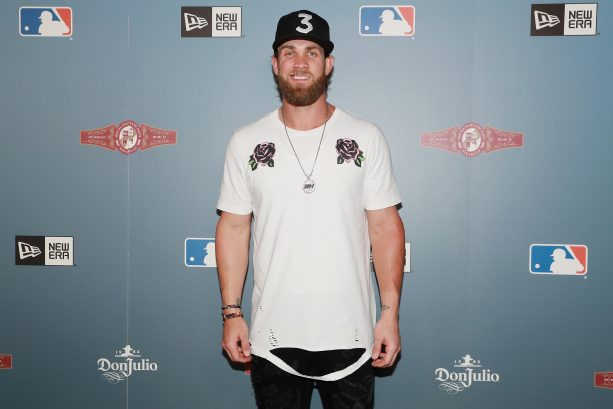 Bryce Harper and Wife Attend New Era All Star Party