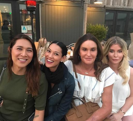 Caitlyn Jenner on Double Date in Malibu