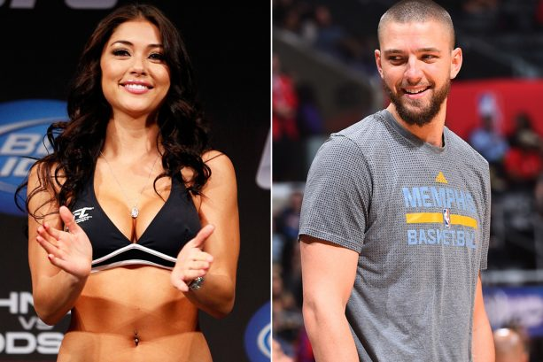 Arianny Celeste Tries on Chandler Parson's Shoes for Size