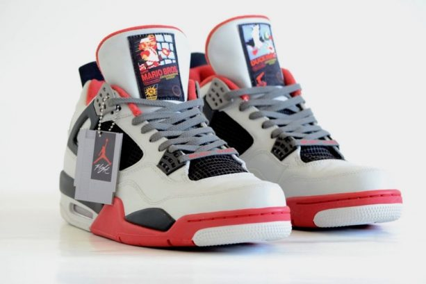 """outlet store 2fcd8 0db8b Freaker Sneaks has released a Nintendo-themed pair of Air Jordans, the  Jordan """"NES"""" IV, which feature both Super Mario and Duck Hunt."""