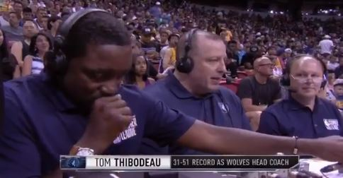 Watch Isiah Thomas Mute Tom Thibodeau Trying To Use The Cough Button