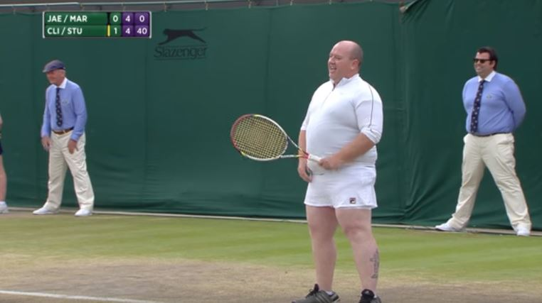 Man At Wimbledon Puts On A Skirt And Joins In On A Women's Double Match