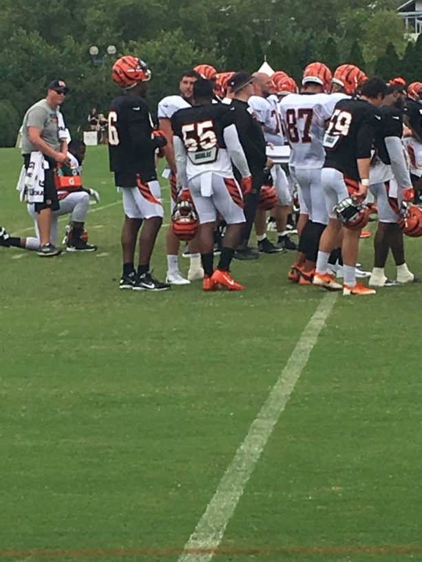 A Fight Broke out at Bengals Training Camp