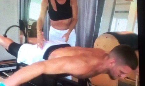 Chandler Parsons Doing Some Intense Pilates