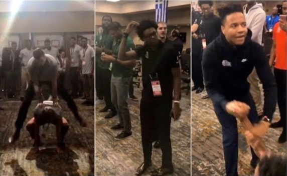 2017 Rookies Bring out Some Weird Dance Moves at NBA Event