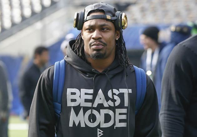 Marshawn Lynch Sat For The National Anthem