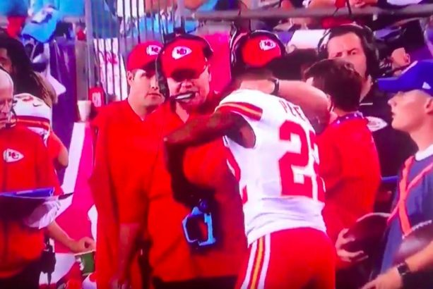 Marcus Peters Dry Humped Andy Reid's Leg Last Night