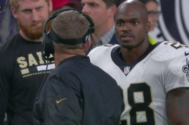 Adrian Peterson Tells Sean Payton He's About To Get His Switch?