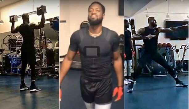 LeBron James & Dwyane Wade Have Another solid Workout in Los Angeles