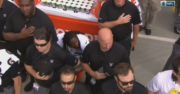 Oakland Raiders Didn't Want Marshawn Lynch Seen Sitting For The Anthem