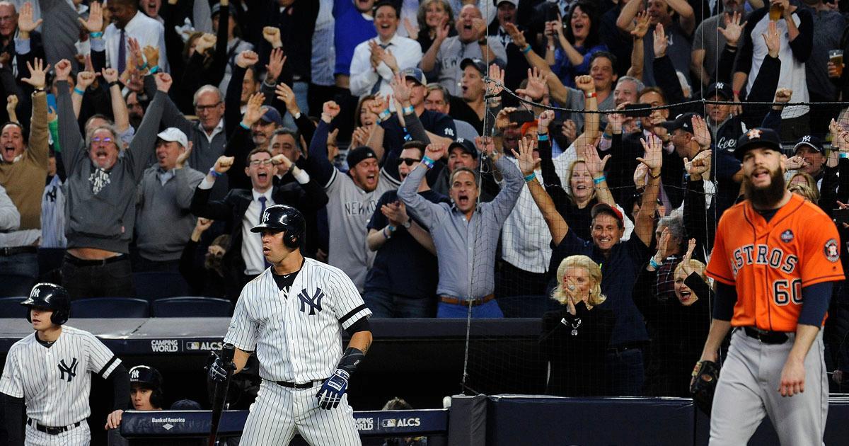 Yankee Fans Chanting Hurricane Harvey At Astros Fans?