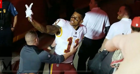 Terrelle Pryor Had To Be Held Back From A Kansas City Chiefs Heckler