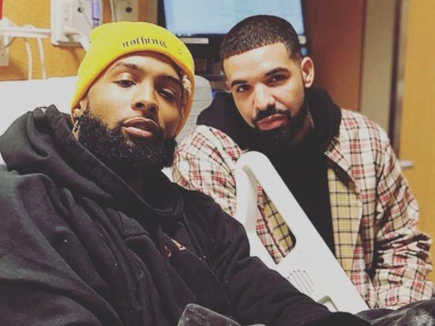 Report: Drake Stayed Overnight at the Hospital For Odell Beckham's Surgery