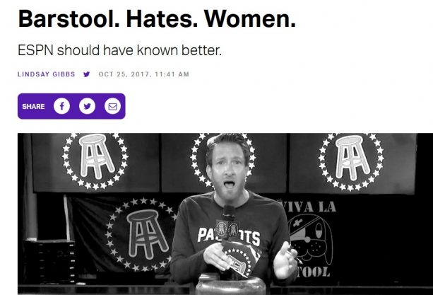 People Really Think Barstool Hates Women