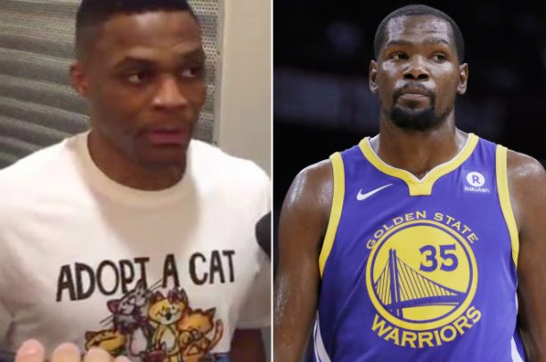 Is this Russell Westbrook cat shirt a petty dig at Kevin Durant?