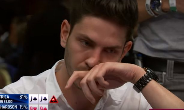 Poker player with a full house Gets the Soul Sucked out of him on the Flop