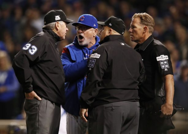 Joe Maddon Got Tossed after the Umps Got Together and Blew a Call