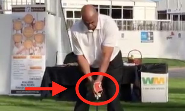 Somehow Charles Barkley's Golf Swing Keeps Getting Better