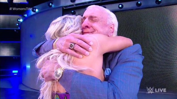 Ric Flair and His Daughter Had a Beautifully Scripted Moment