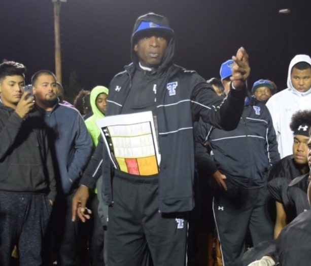 Coach Deion Sanders Gets into It with Other Coaches for the District Championship