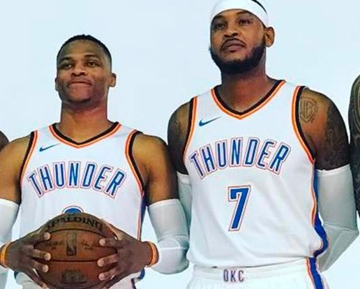 Russell Westbrook trolls Carmelo Anthony for Eating too Much
