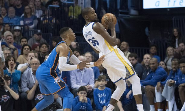 Kevin Durant And Russell Westbrook Confront Each Other