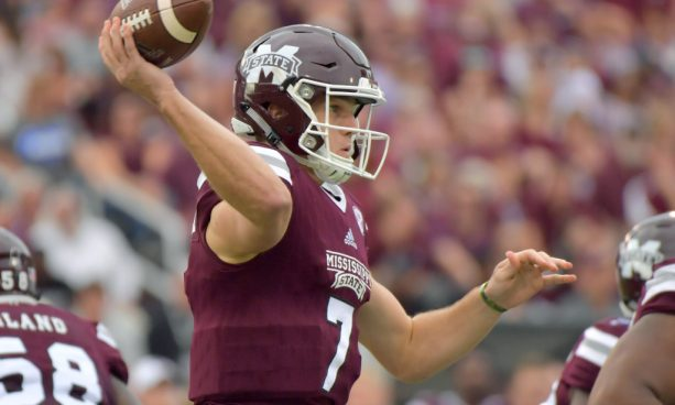 Oh my God! This is gruesome! Mississippi State QB Breaks Leg