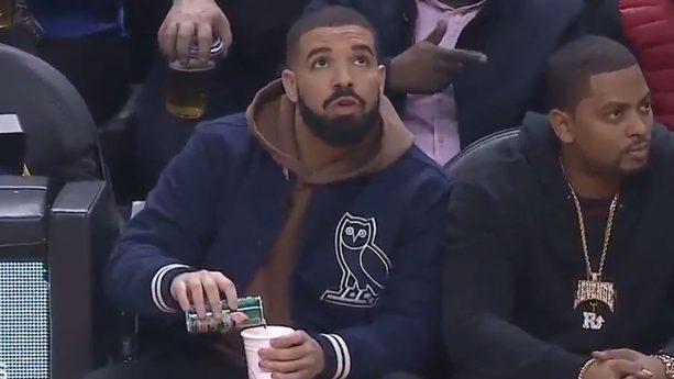 Drake Is CAUGHT Mixing SODA WITH LEAN Courtside