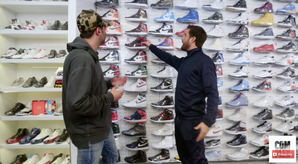 "65161360ca517 This gay snob video comes to us via YouTube. ""Scott Disick goes Sneaker  Shopping with Joe La Puma at Stadium Goods in New York City"
