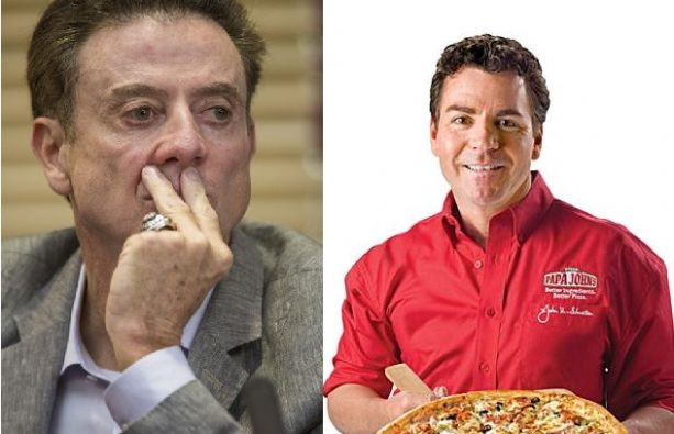 Rick Pitino and Papa Johns on the OUTS
