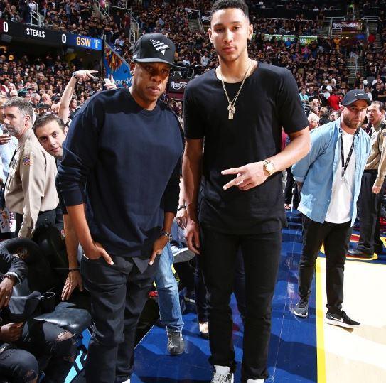 Philadelphia 76ers Sporting Meek Mill Hoodies at Jay-Z Concert in Philly
