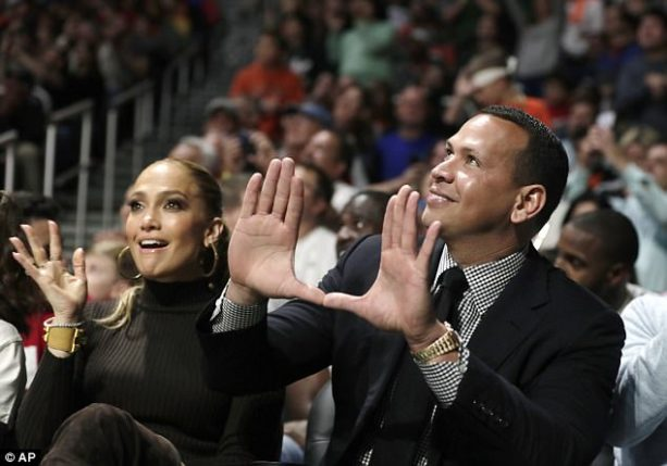 Jennifer Lopez Steals a Kiss from Alex Rodriguez