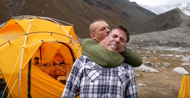 Steve-O Gets Choked Out by Chuck Liddell!