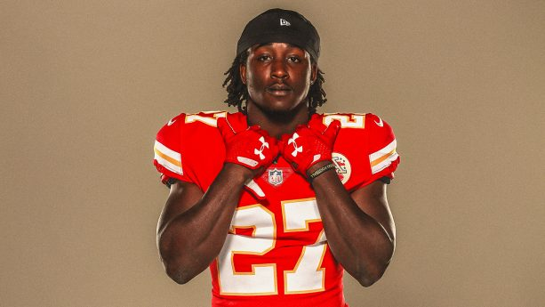 Kansas City Chiefs' Kareem Hunt at The Ainsworth Kansas City Opening