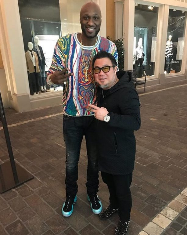 Lamar Odom Making Overseas Deals at the Grove